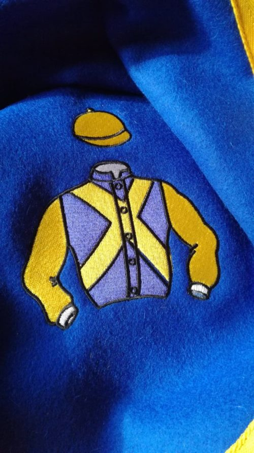 embroidered racing silks