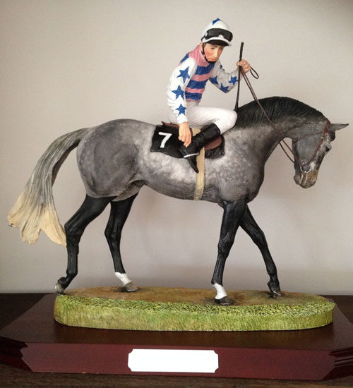 hand painted horse racing enthusiast gift