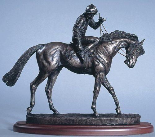 horse racing bronze