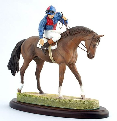 personalised race horse sculpture