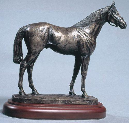 race horse bronze