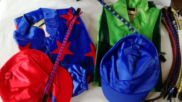 racing silks and satin browbands