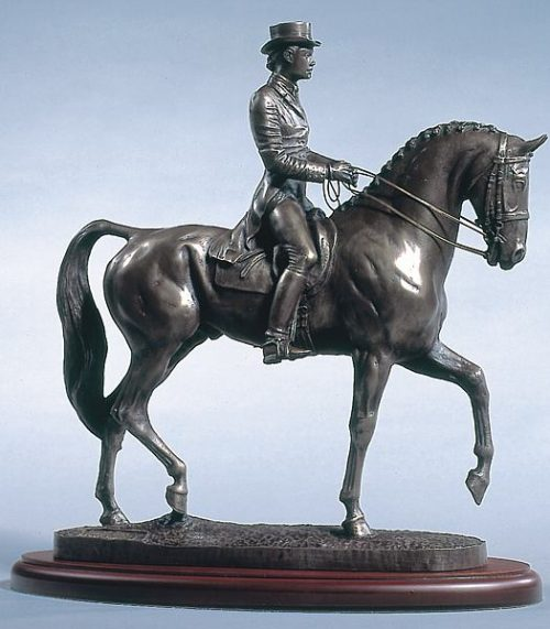 dressage horse bronze