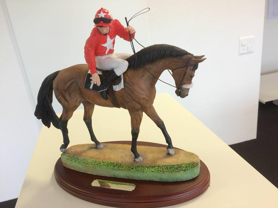 hand painted race horse