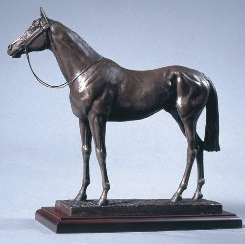 bronze race horse