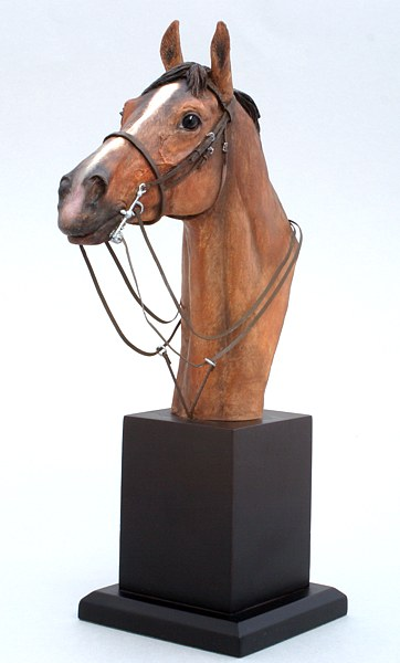 Painted horse bust